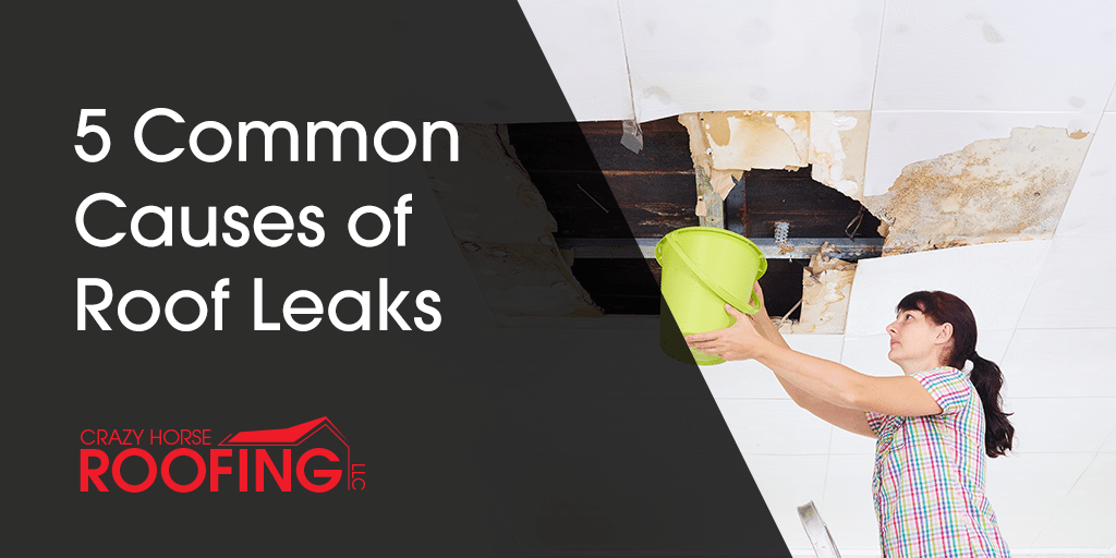 Roof leaks are not uncommon and should be taken care of quickly to avoid more extensive & 5 Common Causes of Roof Leaks - Crazy Horse Roofing