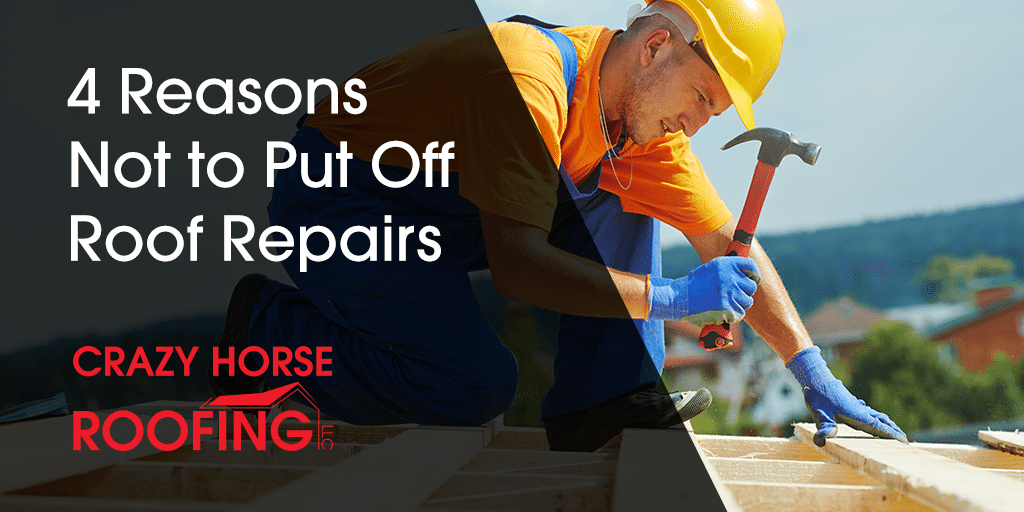 It may seem like a good idea to postpone repairing your roof if it just has minor damage, but that can easily come back to bite you. Here are 4 reasons not to put off roof repairs.