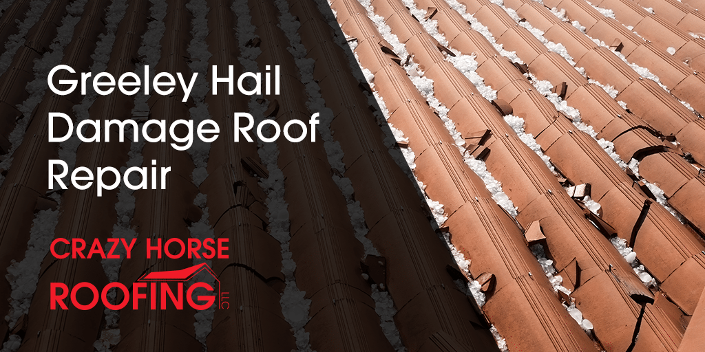 If your roof or gutters have hail damage from the recent hailstorm in Greeley, give Crazy Horse Roofing a call for your roof repair!