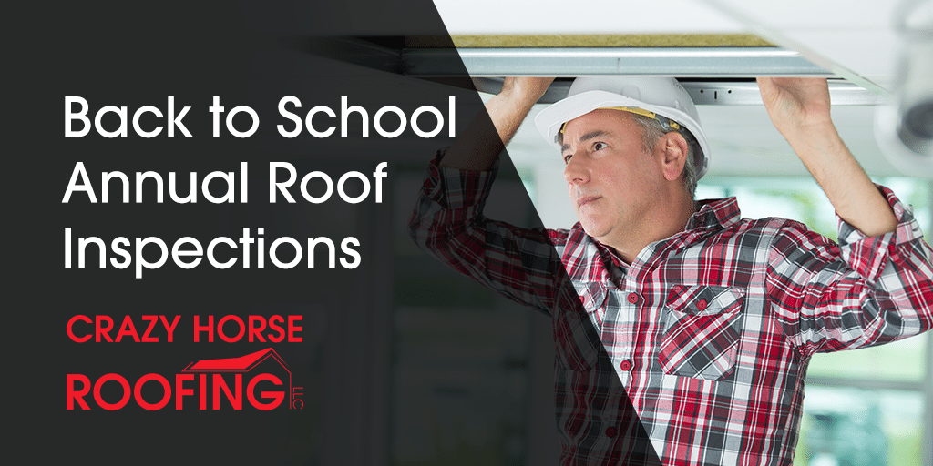 When students are starting to head back to school, it's the perfect time to make sure your roof is ready for the year with annual roof inspections.