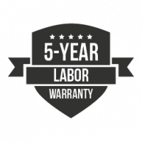 Crazy Horse Roofing 5-Year Labor Warranty